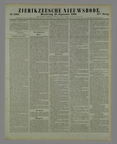Zierikzeesche Nieuwsbode 1888-09-20