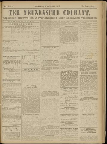 Ter Neuzensche Courant. Algemeen Nieuws- en Advertentieblad voor Zeeuwsch-Vlaanderen / Neuzensche Courant ... (idem) / (Algemeen) nieuws en advertentieblad voor Zeeuwsch-Vlaanderen 1917-10-06