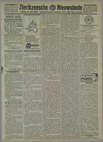 Zierikzeesche Nieuwsbode 1930-06-13
