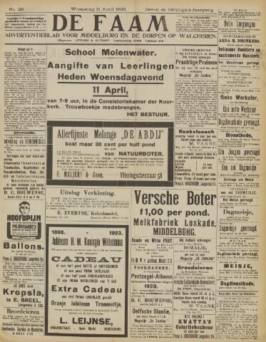 de Faam en de Faam/de Vlissinger 1923-04-11