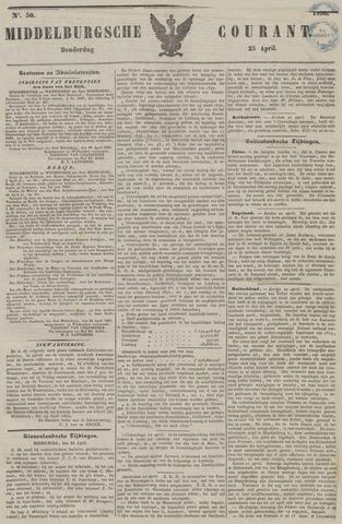 Middelburgsche Courant 1850-04-25