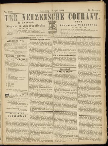 Ter Neuzensche Courant. Algemeen Nieuws- en Advertentieblad voor Zeeuwsch-Vlaanderen / Neuzensche Courant ... (idem) / (Algemeen) nieuws en advertentieblad voor Zeeuwsch-Vlaanderen 1904-04-28