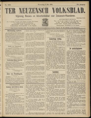 Ter Neuzensch Volksblad. Vrijzinnig nieuws- en advertentieblad voor Zeeuwsch- Vlaanderen / Zeeuwsch Nieuwsblad. Nieuws- en advertentieblad voor Zeeland 1911-05-03