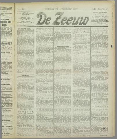 De Zeeuw. Christelijk-historisch nieuwsblad voor Zeeland 1918-12-10