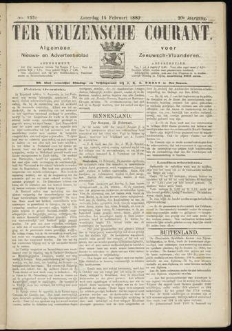 Ter Neuzensche Courant. Algemeen Nieuws- en Advertentieblad voor Zeeuwsch-Vlaanderen / Neuzensche Courant ... (idem) / (Algemeen) nieuws en advertentieblad voor Zeeuwsch-Vlaanderen 1880-02-14