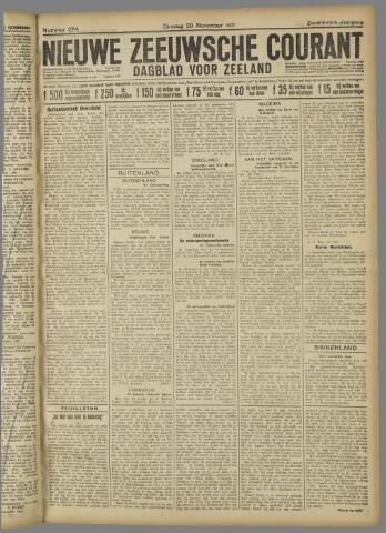 Nieuwe Zeeuwsche Courant 1921-11-29
