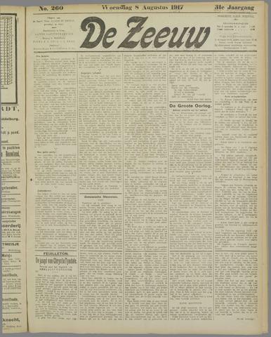 De Zeeuw. Christelijk-historisch nieuwsblad voor Zeeland 1917-08-08