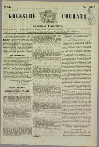 Goessche Courant 1853-12-01