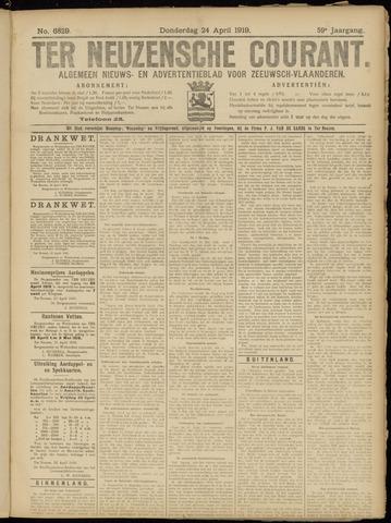 Ter Neuzensche Courant. Algemeen Nieuws- en Advertentieblad voor Zeeuwsch-Vlaanderen / Neuzensche Courant ... (idem) / (Algemeen) nieuws en advertentieblad voor Zeeuwsch-Vlaanderen 1919-04-24