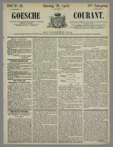 Goessche Courant 1881-04-26