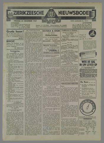Zierikzeesche Nieuwsbode 1937-12-24