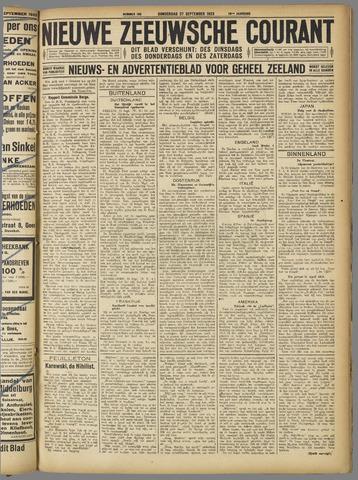 Nieuwe Zeeuwsche Courant 1923-09-27