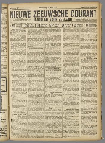 Nieuwe Zeeuwsche Courant 1923-04-25