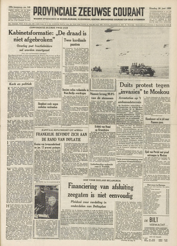 Provinciale Zeeuwse Courant 1956-06-26