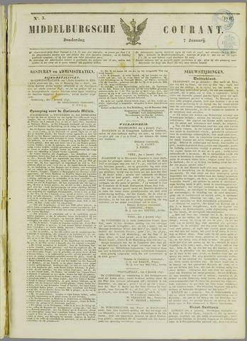 Middelburgsche Courant 1847-01-07