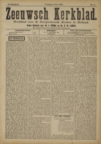 Zeeuwsche kerkbode, weekblad gewijd aan de belangen der gereformeerde kerken/ Zeeuwsch kerkblad 1909-07-09