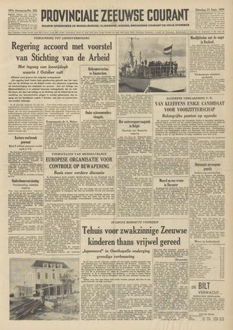 Provinciale Zeeuwse Courant 1954-09-21