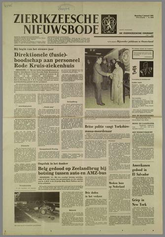 Zierikzeesche Nieuwsbode 1981-01-05