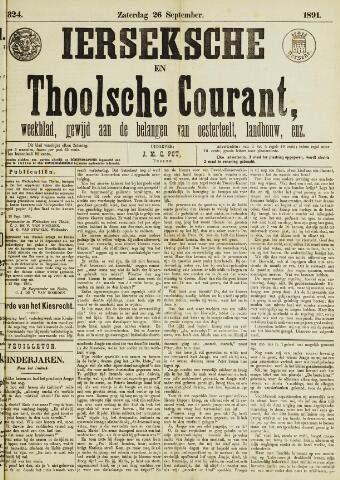 Ierseksche en Thoolsche Courant 1891-09-26