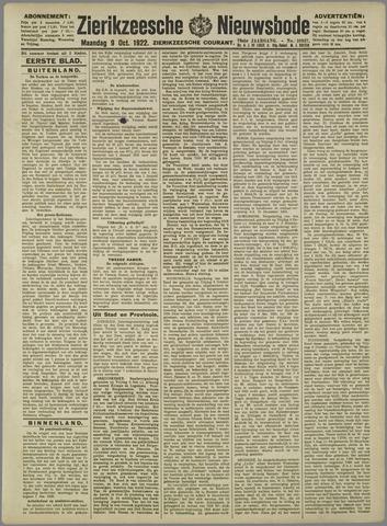 Zierikzeesche Nieuwsbode 1922-10-09