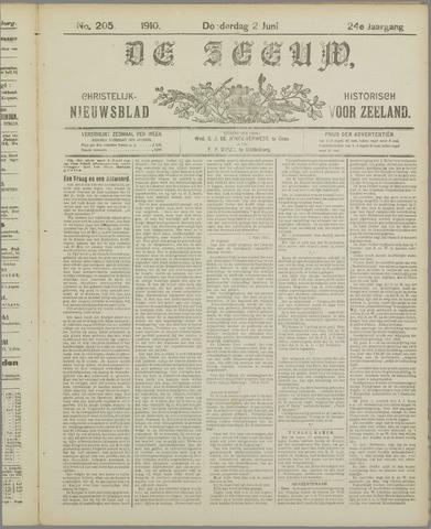De Zeeuw. Christelijk-historisch nieuwsblad voor Zeeland 1910-06-02