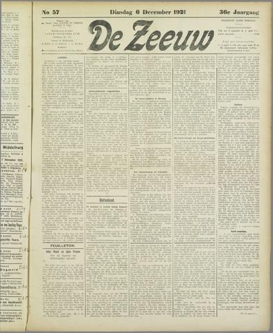 De Zeeuw. Christelijk-historisch nieuwsblad voor Zeeland 1921-12-06