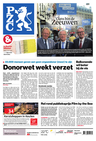 Provinciale Zeeuwse Courant 2016-09-16