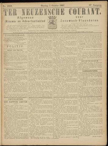 Ter Neuzensche Courant. Algemeen Nieuws- en Advertentieblad voor Zeeuwsch-Vlaanderen / Neuzensche Courant ... (idem) / (Algemeen) nieuws en advertentieblad voor Zeeuwsch-Vlaanderen 1907-10-01