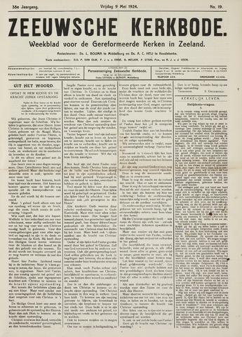 Zeeuwsche kerkbode, weekblad gewijd aan de belangen der gereformeerde kerken/ Zeeuwsch kerkblad 1924-05-09