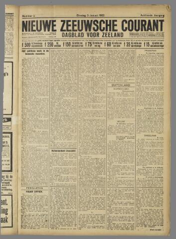 Nieuwe Zeeuwsche Courant 1922-01-03