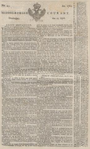Middelburgsche Courant 1762-04-15