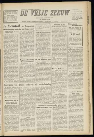 de Vrije Zeeuw 1947-12-23