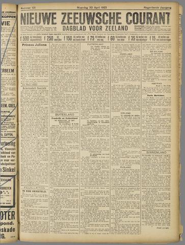 Nieuwe Zeeuwsche Courant 1923-04-30
