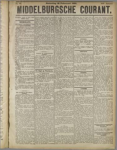 Middelburgsche Courant 1921-02-19