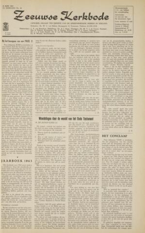 Zeeuwsche kerkbode, weekblad gewijd aan de belangen der gereformeerde kerken/ Zeeuwsch kerkblad 1963-06-14