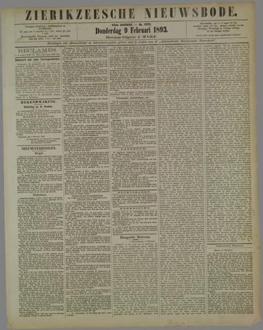 Zierikzeesche Nieuwsbode 1893-02-09
