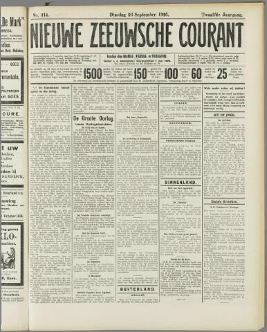 Nieuwe Zeeuwsche Courant 1916-09-26