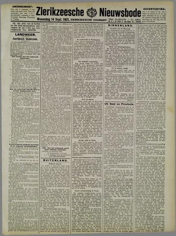 Zierikzeesche Nieuwsbode 1921-09-14