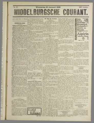Middelburgsche Courant 1925-01-21