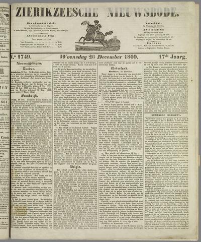 Zierikzeesche Nieuwsbode 1860-12-26