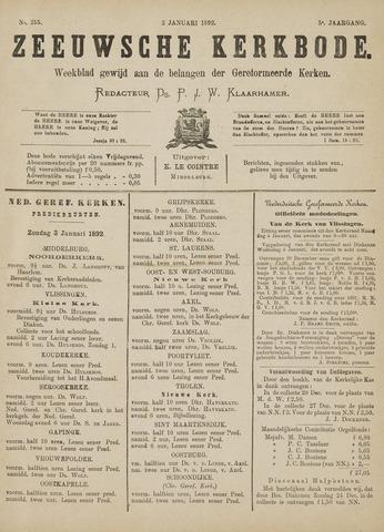 Zeeuwsche kerkbode, weekblad gewijd aan de belangen der gereformeerde kerken/ Zeeuwsch kerkblad 1892