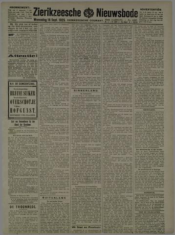 Zierikzeesche Nieuwsbode 1925-09-16