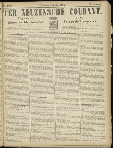 Ter Neuzensche Courant. Algemeen Nieuws- en Advertentieblad voor Zeeuwsch-Vlaanderen / Neuzensche Courant ... (idem) / (Algemeen) nieuws en advertentieblad voor Zeeuwsch-Vlaanderen 1887-10-05