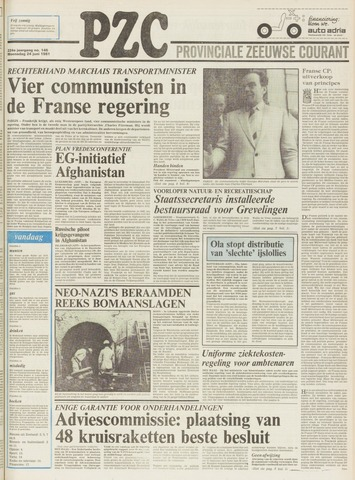 Provinciale Zeeuwse Courant 1981-06-24