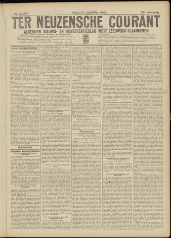 Ter Neuzensche Courant. Algemeen Nieuws- en Advertentieblad voor Zeeuwsch-Vlaanderen / Neuzensche Courant ... (idem) / (Algemeen) nieuws en advertentieblad voor Zeeuwsch-Vlaanderen 1942-04-24