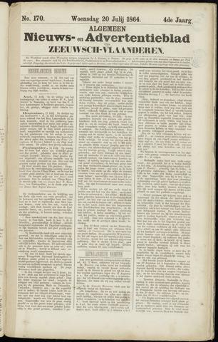 Ter Neuzensche Courant. Algemeen Nieuws- en Advertentieblad voor Zeeuwsch-Vlaanderen / Neuzensche Courant ... (idem) / (Algemeen) nieuws en advertentieblad voor Zeeuwsch-Vlaanderen 1864-07-20