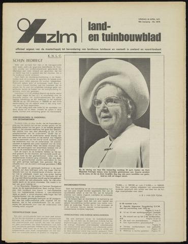 Zeeuwsch landbouwblad ... ZLM land- en tuinbouwblad 1971-04-30