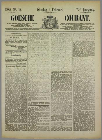 Goessche Courant 1885-02-03
