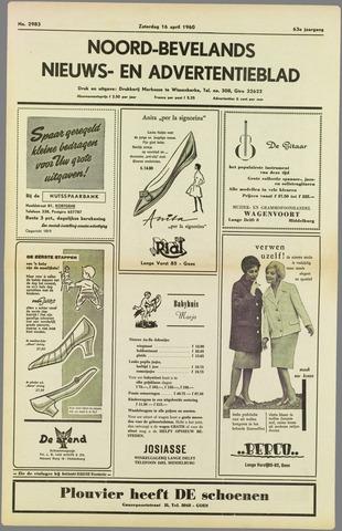 Noord-Bevelands Nieuws- en advertentieblad 1960-04-16