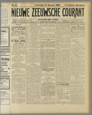 Nieuwe Zeeuwsche Courant 1918-01-12